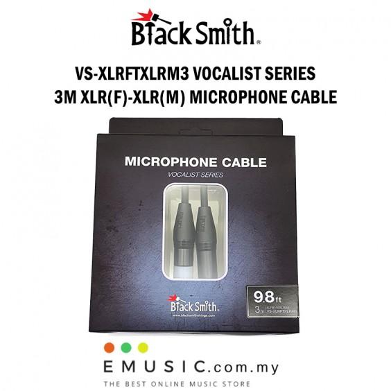 Blacksmith VS-XLRFTXLRM3 3m XLR Female to XLR Male Microphone Cable Vocalist Series