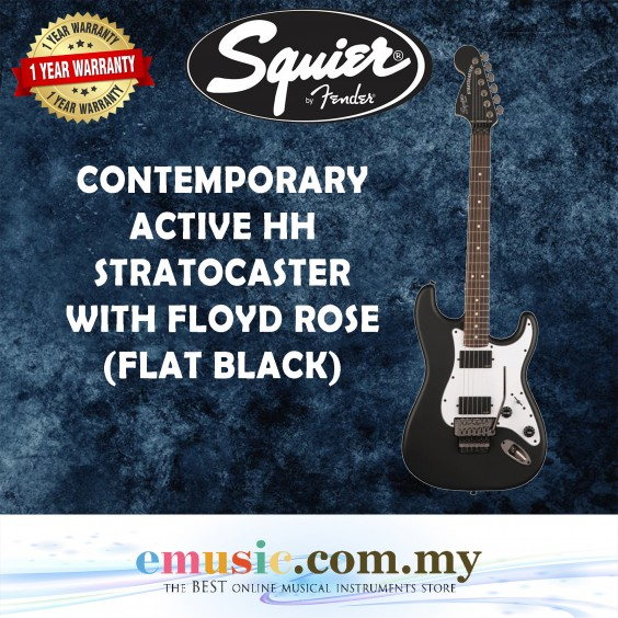 Squier Contemporary Active HH Stratocaster Electric Guitar w/Floyd Rose, Rosewood FingerBoard
