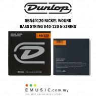 Jim Dunlop DBN40120 Nickel Wound Bass Guitar String 040-120 - 5-String