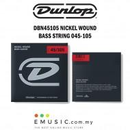 Jim Dunlop DBN45105 Nickel Wound Bass Guitar String 045-105