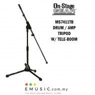 On-Stage GEAR MS7411TB Bass Drum Tripod Amp Tripod Microphone Stand with Teleboom
