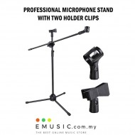 High Quality Professional Microphone Mic Stage Stand Adjustable with Two Holder Clips